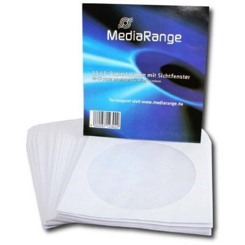 MediaRange BOX65 estuche de CD y DVD - Funda (Color blanco, Papel),...