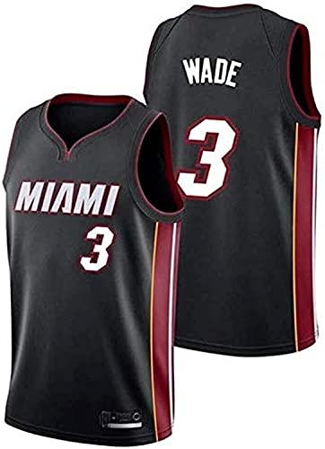 Jerseys Wade Camiseta De Baloncesto De La NBA CóModa Fresco Y De Malla Transpirable Miami Heat del NúMero 3(Size:S/,Color:G1)