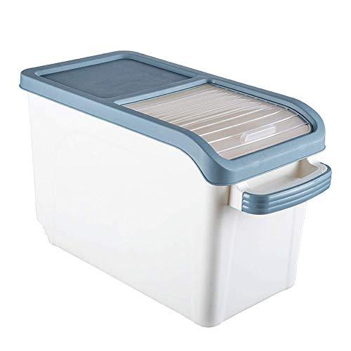 BIASTNR Contenedor de almacenamiento de arroz, contenedor grande de almacenamiento de alimentos con ruedas, contenedor de cereales para harina, alimentos secos, organización de despensa de cocina