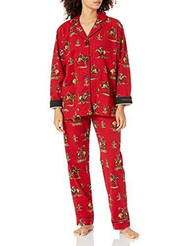 PJ Salvage Women's Loungewear Flannels Pajama Pj Set, Brick, M