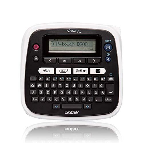 Brother PT-D200BW Beschriftungsgerät (für 3,5 bis 12 mm breite TZe-Schriftbänder, bis zu 20 mm/Sek. Druckgeschwindigkeit)