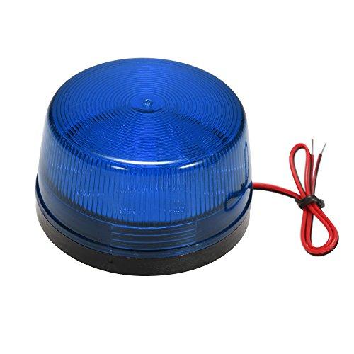 OWSOO Alarm Licht LED Verdrahtetes Alarm-Röhrenblitz Signal Sicherheit warnendes LED-Licht blinkt,wasserdichtes 12V 120mA sicher Sicherheit für Warnungssystem, Blau