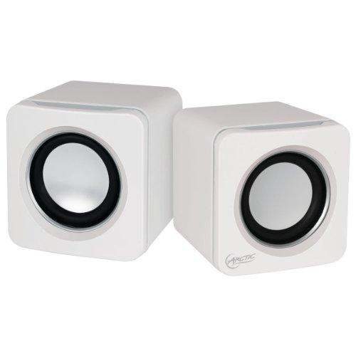 ARCTIC S111 BT - Casse portatili con connessione USB, Mini altoparlanti con alta qualità sonora per PC, desktop o laptop, durata della batteria fino a 12 ore bassi potenti e design compatto - Bianco