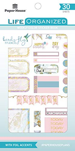 Paper House Productions STBK-0003E Weekly Color Kit 30 Sheet Planner Sticker Book, None