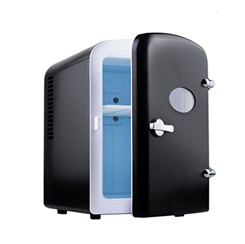 Q-HL Auto Elektrische Kühlschrank Kühlbox, 5L Auto Kühlschrank, tragbare Mini-Kühlschrank, AC und DC Hotspot-System, Thermostat, Medikamentenlager, Kosmetik-Kühlschrank (Color : Black)