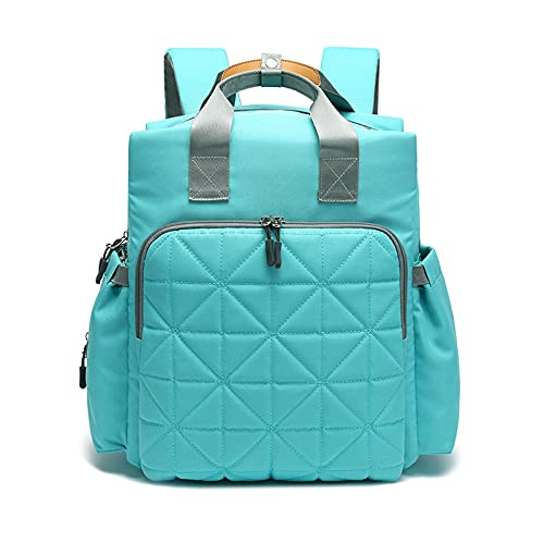 QIANJINGCQ Explosive Mommy Bag Mom Bag New Fashion Double Shoulder Portable Large-capacity Backpack Going Out Mother and Baby Bag