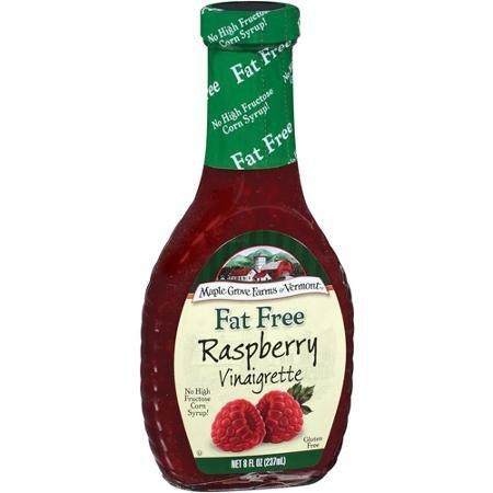 Maple Grove Farms Dressing Raspberry Vinaigrette Fat Free 8.0 OZ(Pack of 3)