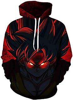 cartoon anime Dragon ball Kakarotto Son Goku 3D Digital printing round neck long sleeve fashion tops-XL