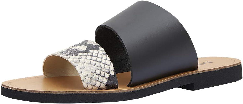 Poi Lei Damen-Schuhe Sandale Emilia Schwarz flach Leder
