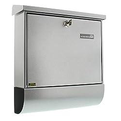 Burg-Wächter Briefkasten-Set mit Zeitungsbox A4 Einwurf-Format, Verzinkter Stahl, Set Vario Si, Silber