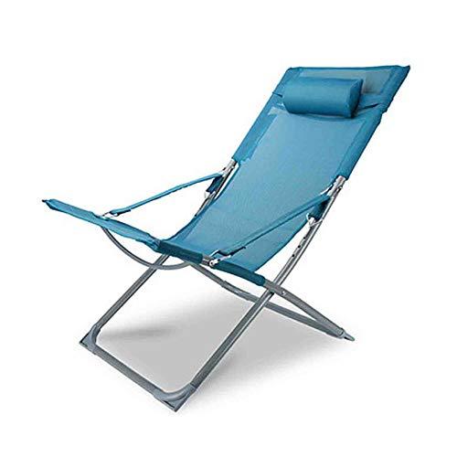 WUTONG Silla de Comedor de jardín, sillas reclinables Plegables para Acampar, Lectura, Oficina, Relajarse, cómoda Silla con sillas, tumbonas Ajustables, 5 Colores