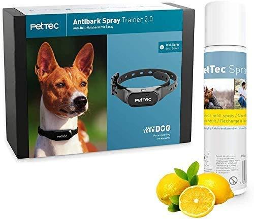 PetTec Trainingshilfe für Hunde Halsband mit Sprühsignal || Stoppt Hundebellen || Sicher & Schmerzfrei