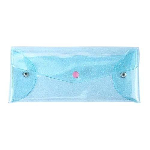 GoYisi HQF-29 Mode-Frauen-transparente Make-up-Speicher-Beutel-Laser-Bleistift-Kasten-Feder-Beutel (Glitter Pulver blau) (Farbe : Laser color)