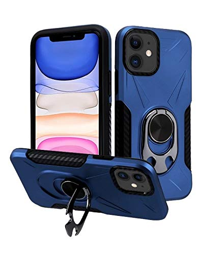 Bemz [Heavy Duty Armor] Case for iPhone 11, 6.1 inch - Bottle Opener Swivel Stand Ultra Rugged Impact Resistant Hybrid Cover - Navy Blue