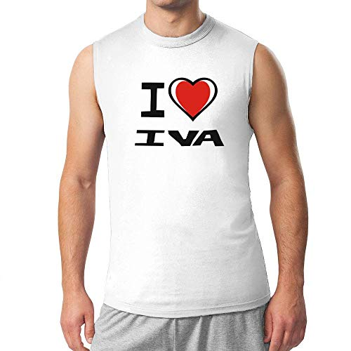 Idakoos I Love Iva Bicolor Heart Camiseta sin mangas - blanco - Medium
