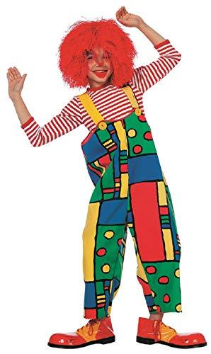 narrenkiste W3239-140 bunt Kinder Mädchen Junge Clown Latzhose Trägerhose Gr.140