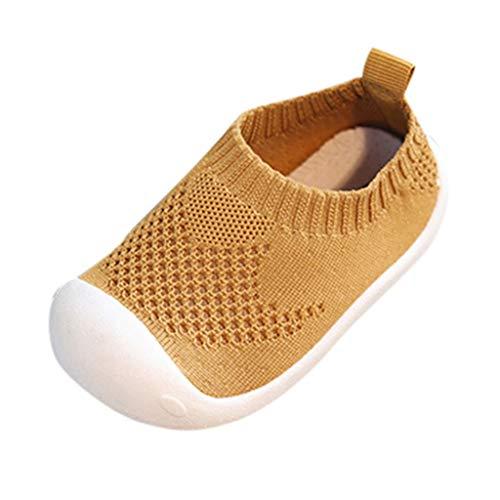2019 Verano Primavera Zapato Deporte De Bebé Niñas Niños Chicos Chicas De Malla Transpirable Suela Blanda Sneaker Loafers Para Primeros Pasos(Marron,12~15 meses)