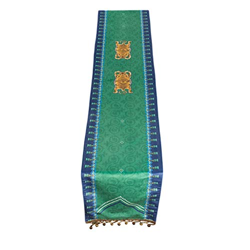 Mantel de tela con bandera china para decoración informal, 30 x 160 cm MXJ61 (tamaño: 30 x 160 cm)