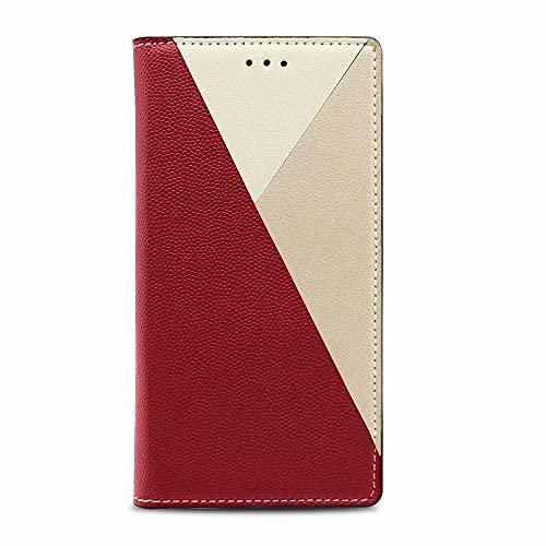Funda para Samsung Galaxy S20, a prueba de golpes, piel sintética, con cierre magnético, función atril, función atril, funda protectora para Samsung Galaxy S20, gris rojo
