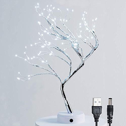 Huapa 108 LED Lámpara De Mesa De La Flor De La Luz del árbol De Los Bonsais, Decorativa Lámpara De Mesa De Estilo Bonsái Lámpara De Navidad para Boda Dormitorio Sala De Estar Puede,Doblar La Rama