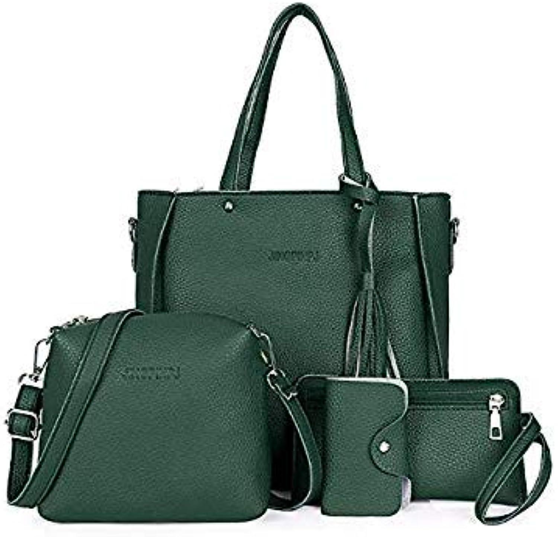 e75c43a22b951 Bloomerang 4pcs Women Tote Purse Messenger Satchel Set Fashion Handbag Sets PU  Leather Shoulder Bags color