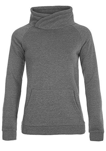 DESIRES DerbyCrossTube Damen Sweatshirt Pullover Sweater Mit Stehkragen Und Cross-Over-Ausschnitt, Größe:S, Farbe:Grey Melange (8236)