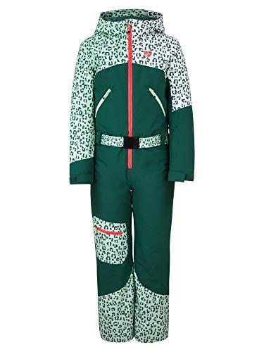 Ziener Mädchen ALKANA Junior Kinder Schneeanzug/Skioverall | Wasserdicht, Winddicht, Warm, Spruce Green, 176