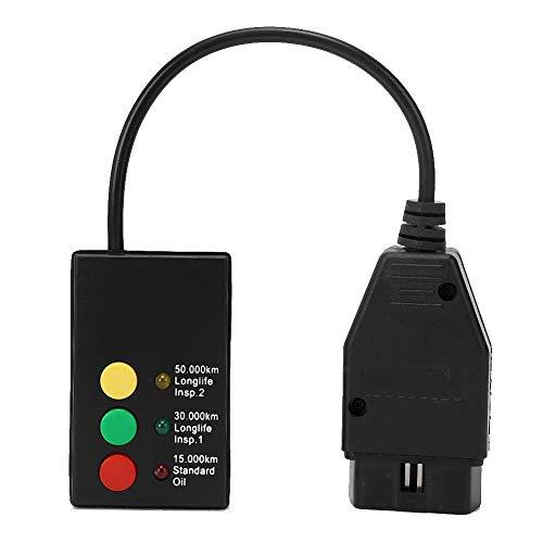 Akozon Herramienta de reinicio LED de Servicio de Aceite de inspección de automóviles OBD2