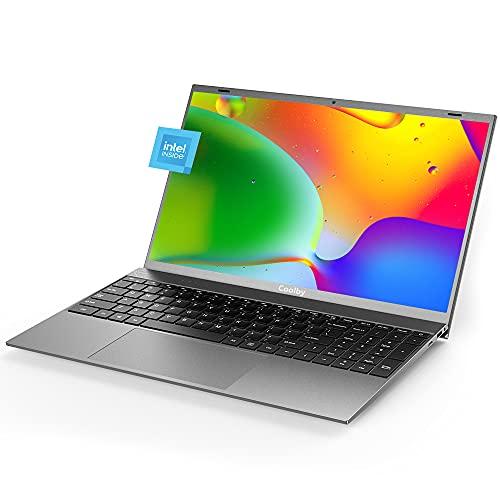 PC Portatile sottile da 15,6 pollici, Intel J4115 Quad Core da 8 GB DDR4,256 GB SSD, PC Notebook 1080P Windows Laptop, Windows 10 Pro PC laptop, tastiera full size, grigio