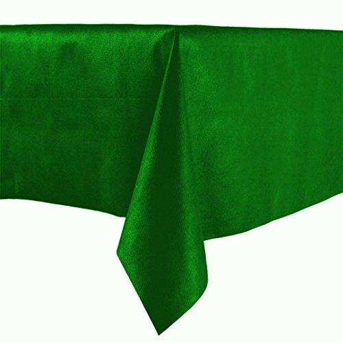 Lot de 20 NAPPES en papier vert, 100 x 100 cm, tissu non tissé similaire aux nappes en papier à sec