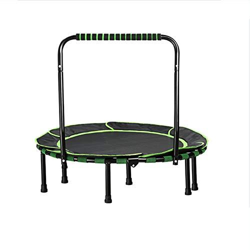 MaQyq Trampolín Plegable, trampolín Interior para niños Bounce Bounce Bed Fitness Ejercicio Cama de Rebote Plegable con reposabrazos, Adecuado para el Gimnasio para el hogar