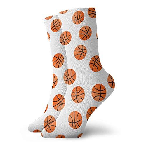 Drempad Luxury Calcetines de Deporte Orange Basket Balls Pattern Unisex Socks, All-Season Lightweight Ankle Socks Crew Socks