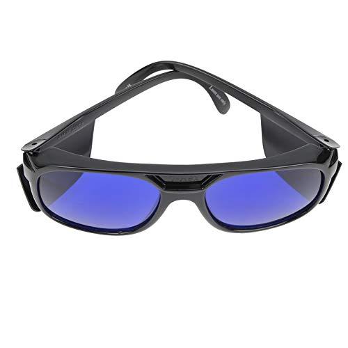Golfbalzoekerbril Retro, Heren Dames Retro Golfbalzoekerbril Blauwe Lens Oogbescherming Sportgolfbril