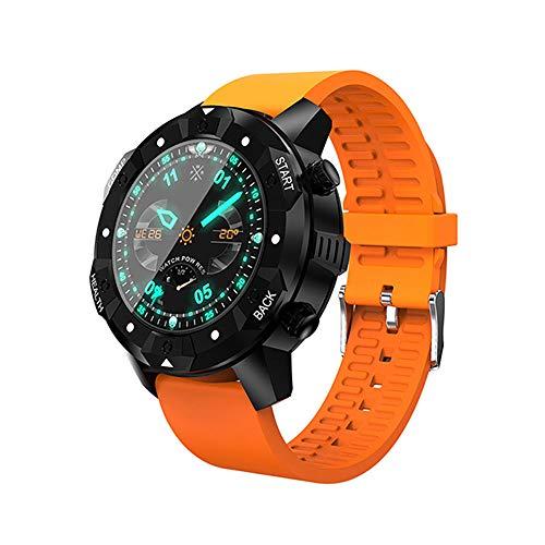 TLgf Smart Watch Phone IP67 Waterproof Heart Rate Monitor 3G WiFi GPS Bluetooth Call Motion Track,1+16GB,1.39 Inch HD Screen,Orange