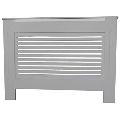 Kensington Radiator Cover Medium (112 x 19 x 82cm) MDF Grey Grill Wood Cabinet
