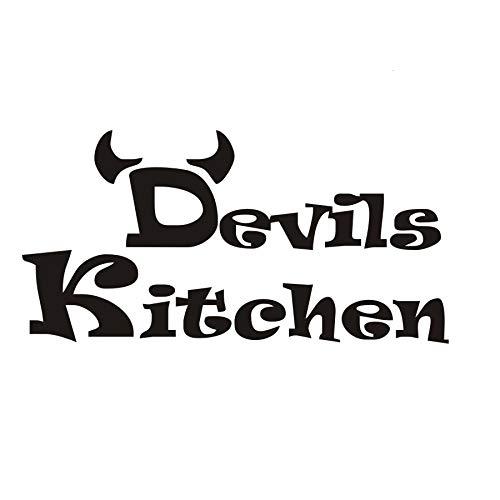 Pegatinas de pared para el aula, diseño simple y barato Devils Room Diy Adesivo Posters Papeles Cocina Obra de arte Fondo Mural Arte Murales de oficina Dormitorio Baños Cumpleaños Niños 59x30cm