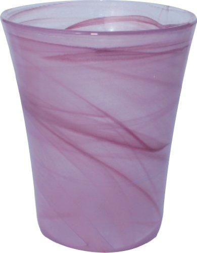 Ivyline Ecoware 7468V Vaso in Vetro riciclabile per Orchidee, Diametro Interno 13,5 cm, Colore: Lilla