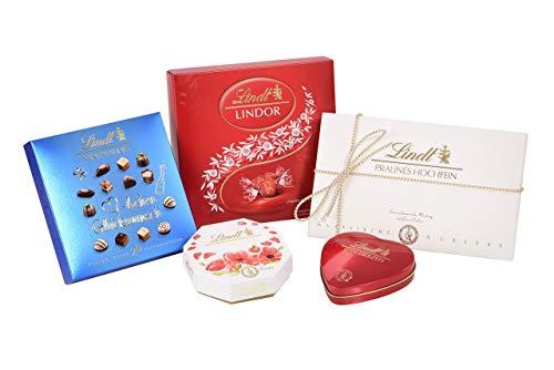Lindt Geschenke Set, beinhaltet 5x Schokoladen Geschenke für kleine und große Anlässe, 1er Pack (1 x 0.477 kg)