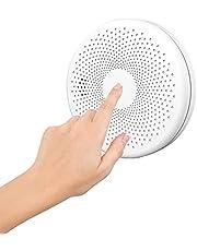 Czujnik dymu WiFi, inteligentny czujnik dymu Tuya, detektor fotoelektryczny wyciszony alarm przeciwpozarowy, wrazliwy czujnik CO EN14604 Standard z samotestowymi systemami bezpieczenstwa domowego (bialy)