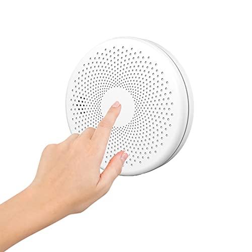 TUYA WiFi APP Control Rauchmelder, Low-Power-Modul mit eingebauter WLAN-Verbindungslösung, Auto-Check, tragbare Rauchmelder