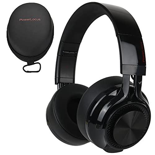 PowerLocus Bluetooth Over-Ear Kopfhörer, Kabellos Faltbare Kopfhörer HD Stereo Wireless Over-Ear Ohrhörer mit Mikrofon Kabellose und Kabel-Headset für iPhone/Android/Windows/TV
