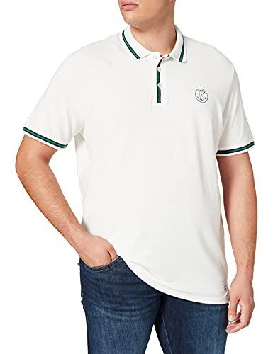 Jack & Jones Jjmisari Polo SS Camisa, Blanc De Blanc/Fit: reg Fit, M para Hombre