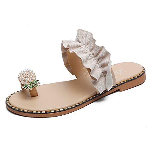 Zapatillas Bohemias Con Puntera Piña Para Mujer Sandalias De Playa Mujeres Niñas...
