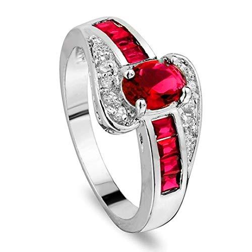 wuligeya Art JKWL Damesring, trouwring, verlovingsring, edelsteen zirkonia ring sieraden