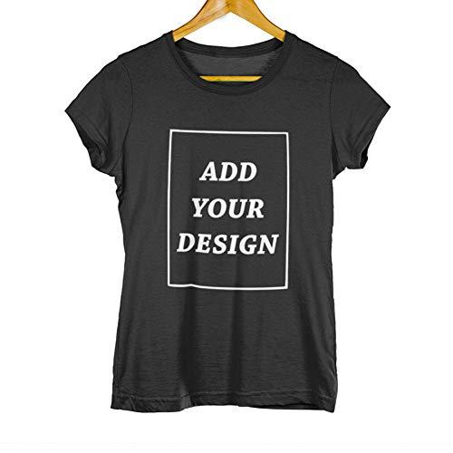 GFJKDO Camiseta Personalizada Mujer Agregue su Propio diseño Imprima