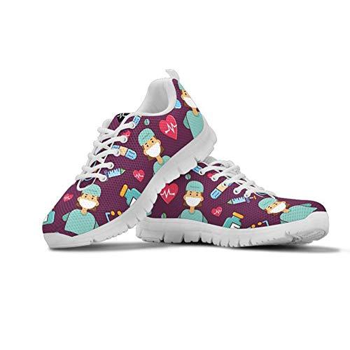 Coloranimal - Zapatillas de correr para mujer con malla de a