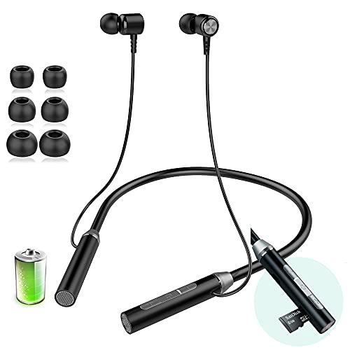 Cuffie Bluetooth,Auricolari Bluetooth 5.0 sportive di qualità audio surround 3D HIFI con microfono integrato,Supporto TF,per Phone/Android/Samsung,interno,all'aperto