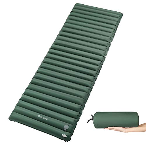CLISPEED Sleeping Pad Inflatable Extra Thickness Camping Mattress Pad Waterproof Air Mat for Traveling Hiking Backpacking