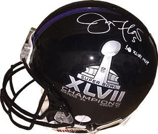 joe flacco signed helmet