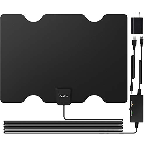 2020 Updated Amplified HD Digital TV Antenna, 50-150 Miles Long Range Indoor Signal Amplifier Booster with 16.4ft Coax Cable/AC Adapter, HDTV Antennas High Definition 1080P 4K for Digital TV/Old TV